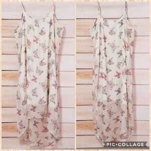 Motherhood Maternity Semi Sheer Butterfly Dress XL